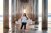 Jada Senior Portrait at Scripps Pier, La Jolla, CA - 2016
